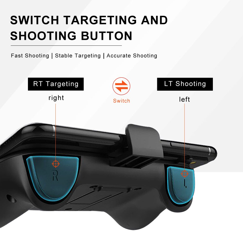 switch gargeting and shooting button