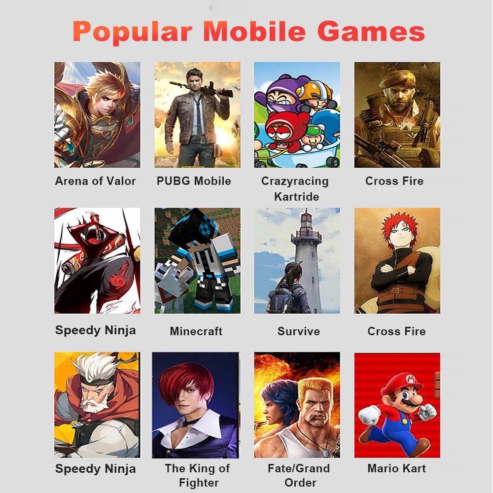 popular mobile games